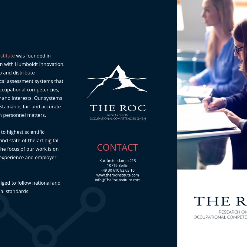 THE ROC INSTITUTE - Broschure EN